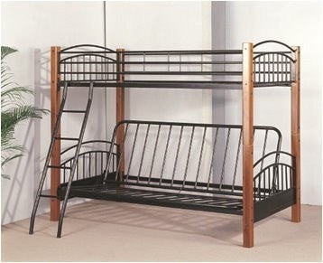 Twin Futon Wood Metal Bunk Bed Pacific Imports Inc