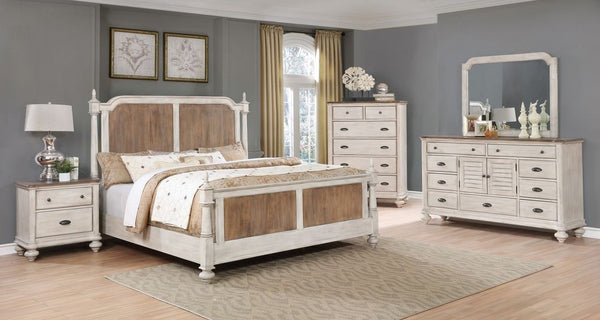 Antique White/Pine Bedroom