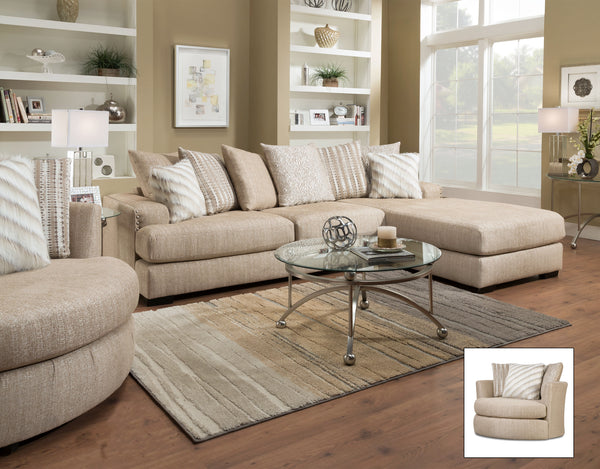 Rondo Oatmeal Sectional Sofa Group