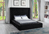 Black Upholstered Bed w/Storage