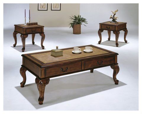 Columbus Coffee Table Set Map Design 3 PCS. SET (1C + 2E) - Furnlander