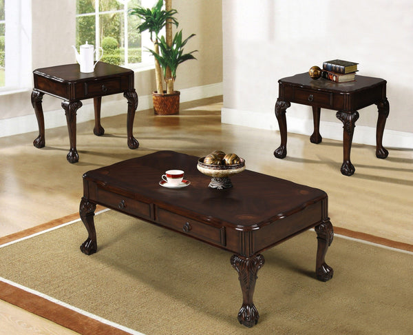Genoa Coffee Table Set 3 PCS. SET (1C + 2E) - Furnlander