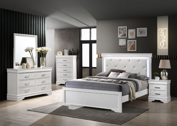 White LED Bedroom