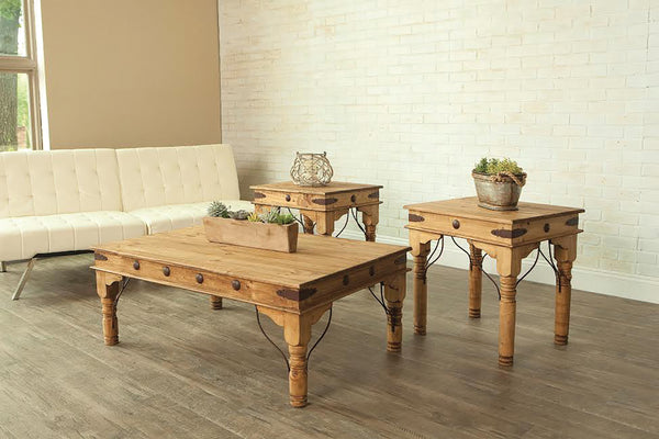 Rustic Indian Coffee Table Set