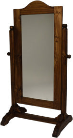 Rustic Antique Brown Cheval Mirror