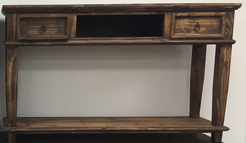Rustic Antique Brown T.V. Stand/Sofa Table