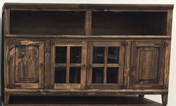 Rustic Antique Brown T.V. Stand