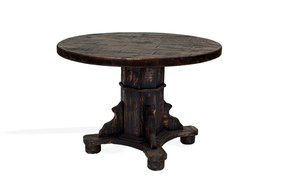 "Rustic Round Dining Table; 47""D Round"