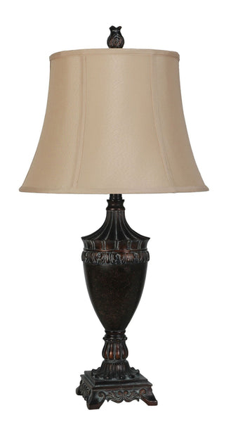 Avery Polyresin Table Lamp - Furnlander