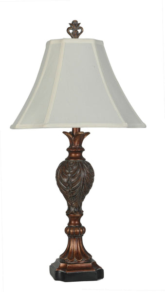 Solomon Polyresin Table Lamp - Furnlander