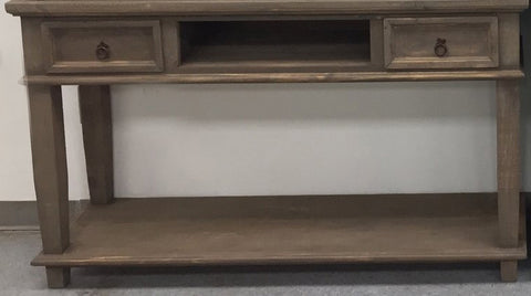Rustic Rough Barnwood T.V. Stand/Sofa Table