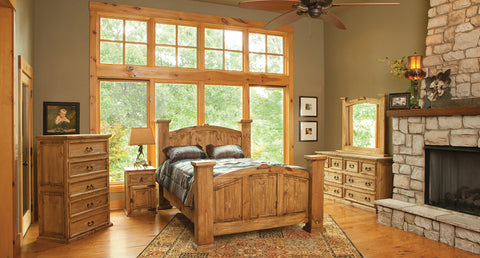 Rustic Mansion Bedroom