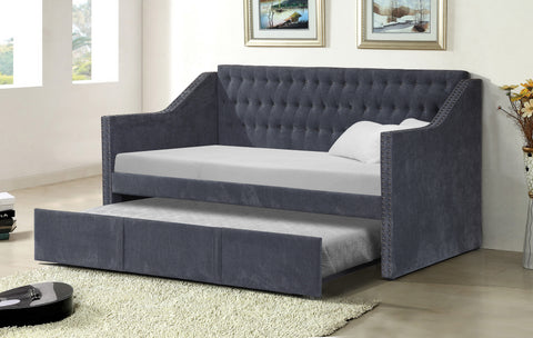 Day Bed w/Trundle; Dark Gray