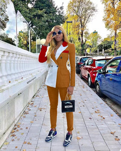 Bossy Lady Double Breasted Blazer Pants Suit