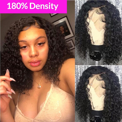 Baby Hair Glueless Pre Plucked Brazilian Remy Short Bob