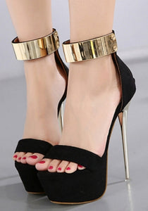 Sandals Buckled Ankle Strap Stilettos