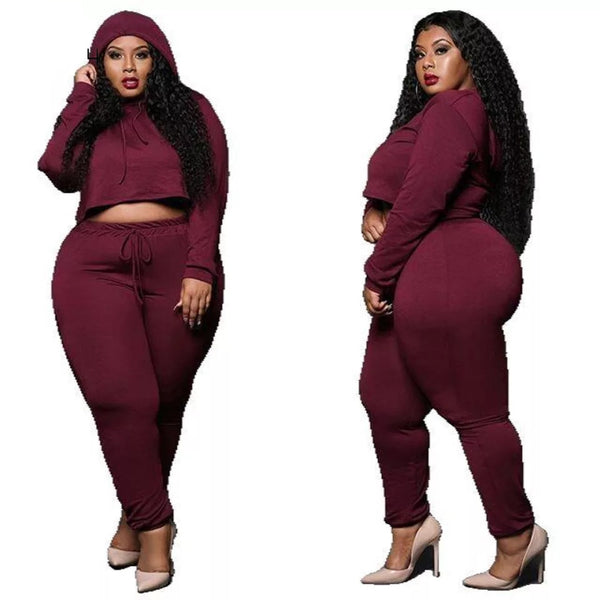 Hooded Two Piece Tight Set