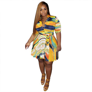 Plus Size Mini Summer Dress