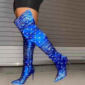 Bandana Knee High Boots and Ankle Boots