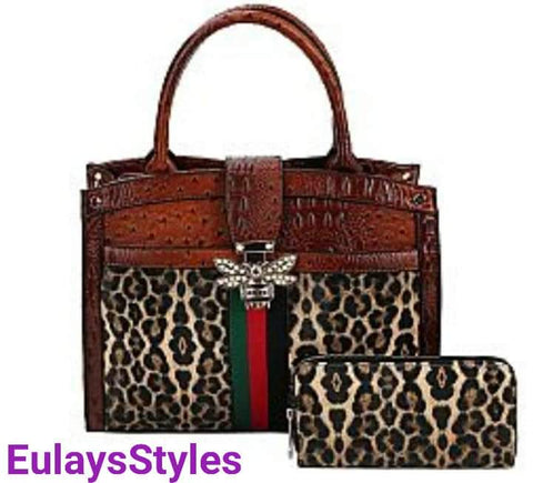 Stylish Leopard purse with wallet