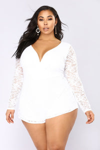 Plus and Women Lace Romper