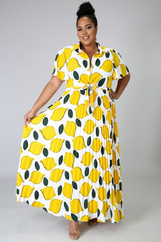 Sunny Plus Size Lemon Maxi Dress