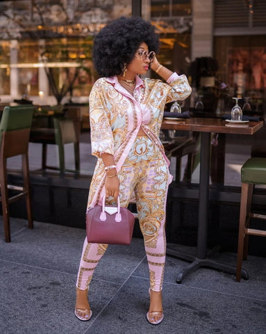 Two Piece Luxury Print Set