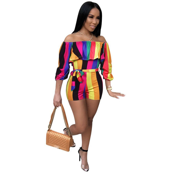 Rainbow Stripe Playsuit