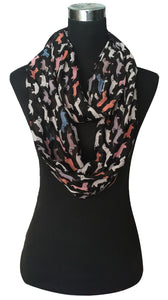 Dachshund Dog Animal Print Infinity Loop Scarf