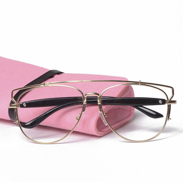 Women clear eyeglasses