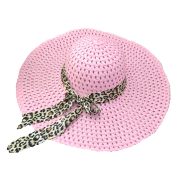 Women's Fashion  Bowknot Ribbon Sun Beach Hat