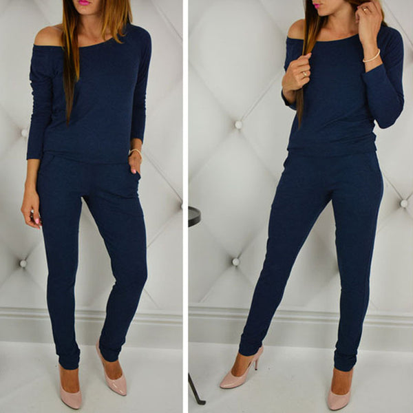 Long Sleeve Casual Rompers