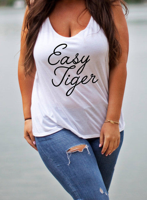 Letter Printing Summer Plus Size Shirt