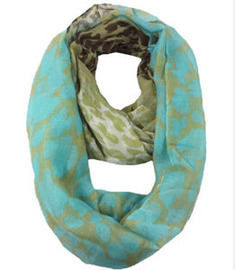 Neon Leopard Animal Print Infinity Loop Scarf Snood Women's Gift Winter