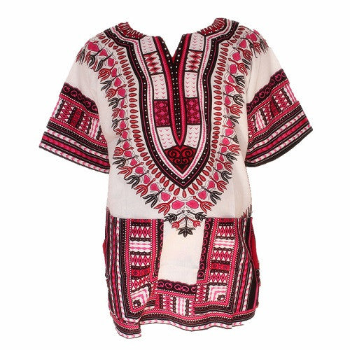Traditional African Print Shirts Femme Loose T-shirt Unisex