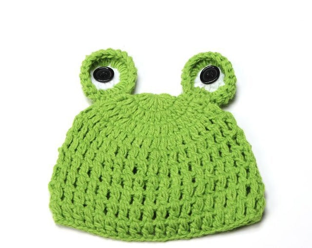 DreamShining Handmade Baby Crochet Knitted Frog Caps