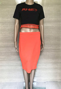 Two Piece Autumn Skirt Set