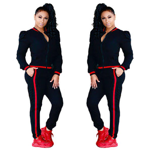 Lady 2-piece O-neck Jumpsuits