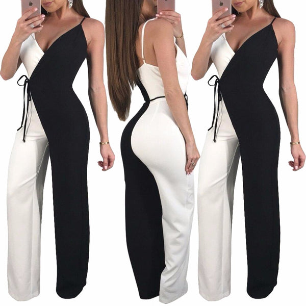 Bandage Black and White Collage Rompers