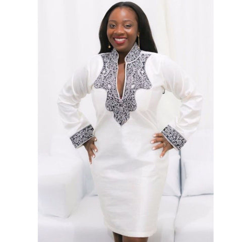 Traditional  African Dashiki Riche Bazin Dress
