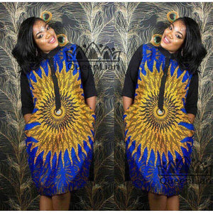 Dashiki Shirt Collar Dress