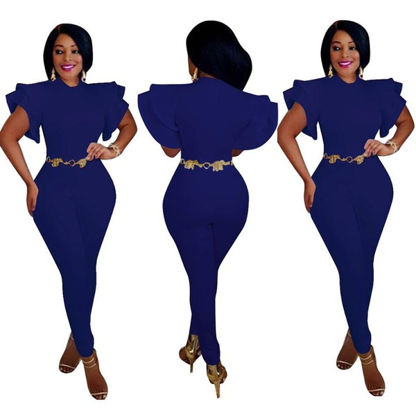Plus Size Women Butterfly Jumpsuit