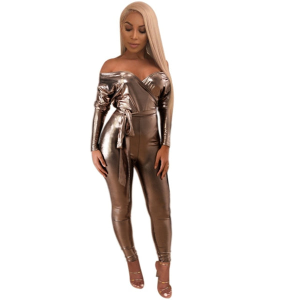 Champagne Sexy Bandage Jumpsuit