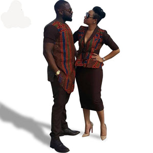 Africa dress for women African batik men's tops+pants lady top+skirt couples