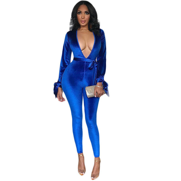 Winter Velvet Jumpsuit
