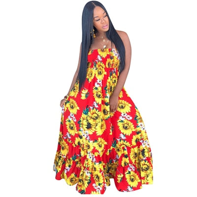 Sunflower Halter Dress
