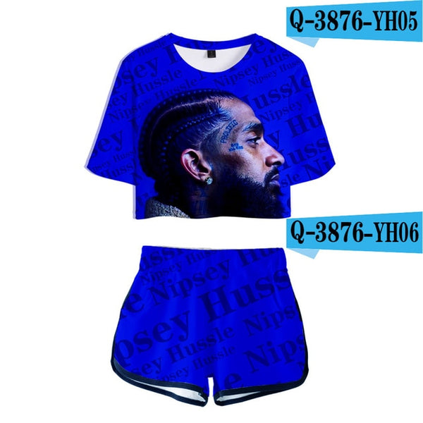 Nipsey Hussle 3D Printed Women Two Piece Set