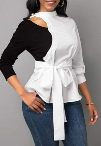 Irregular Bowtie Blouse