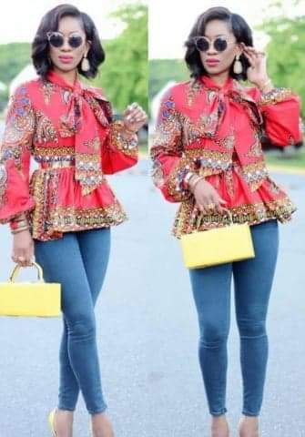 African Slim Fit Long Sleeve Shirt Blouse