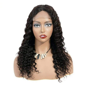 Deep Wave Curly Human Hair 4*4 Lace Closure Brazilian Deep Wave